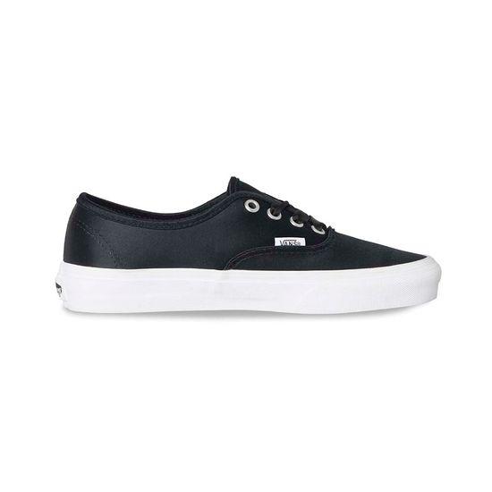 Vans Authentic, Zapatillas para Mujer, Negro (Satin Lux), 34.5 EU