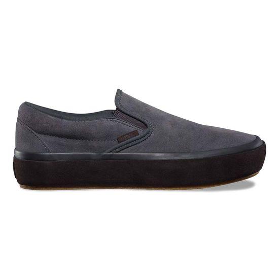 35714141c945 Zapatillas Classic Slip-On Platform Suede Outsole Asphalt Licorice ...