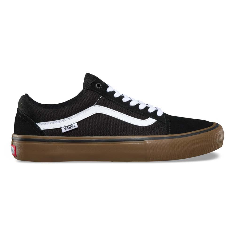 Zapatillas Old Skool Pro Black White Medium Gum - Vans 6ed7623fe14