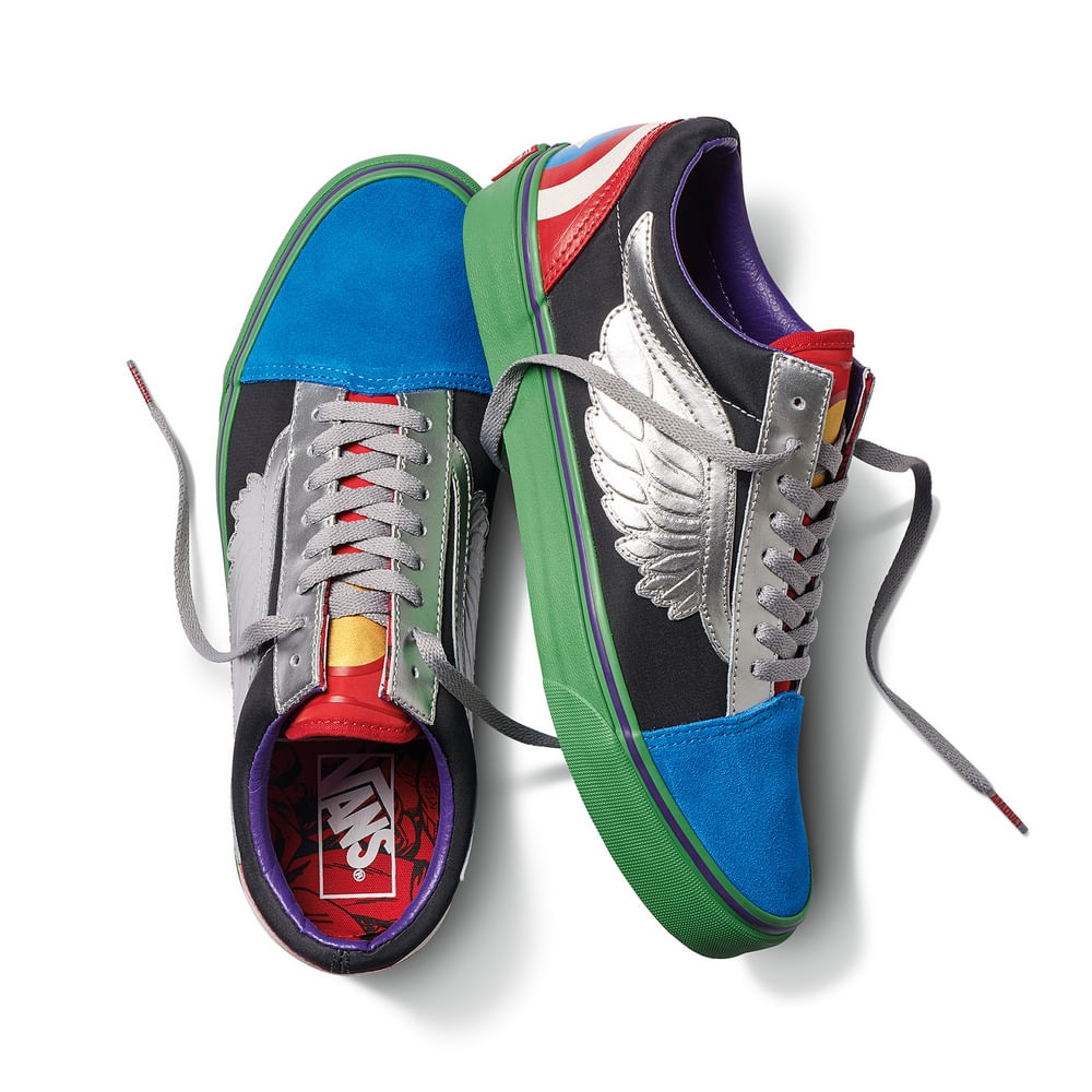 Old Avengersmulti Vans X Marvel Zapatillas Skool qXw1dS