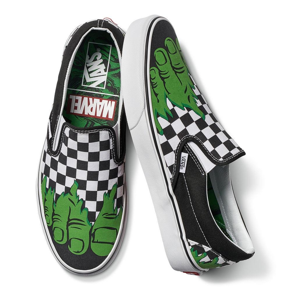 146567bf3 Zapatillas Vans X Marvel Classic Slip-On Hulk Checkerboard - Vans - Vans