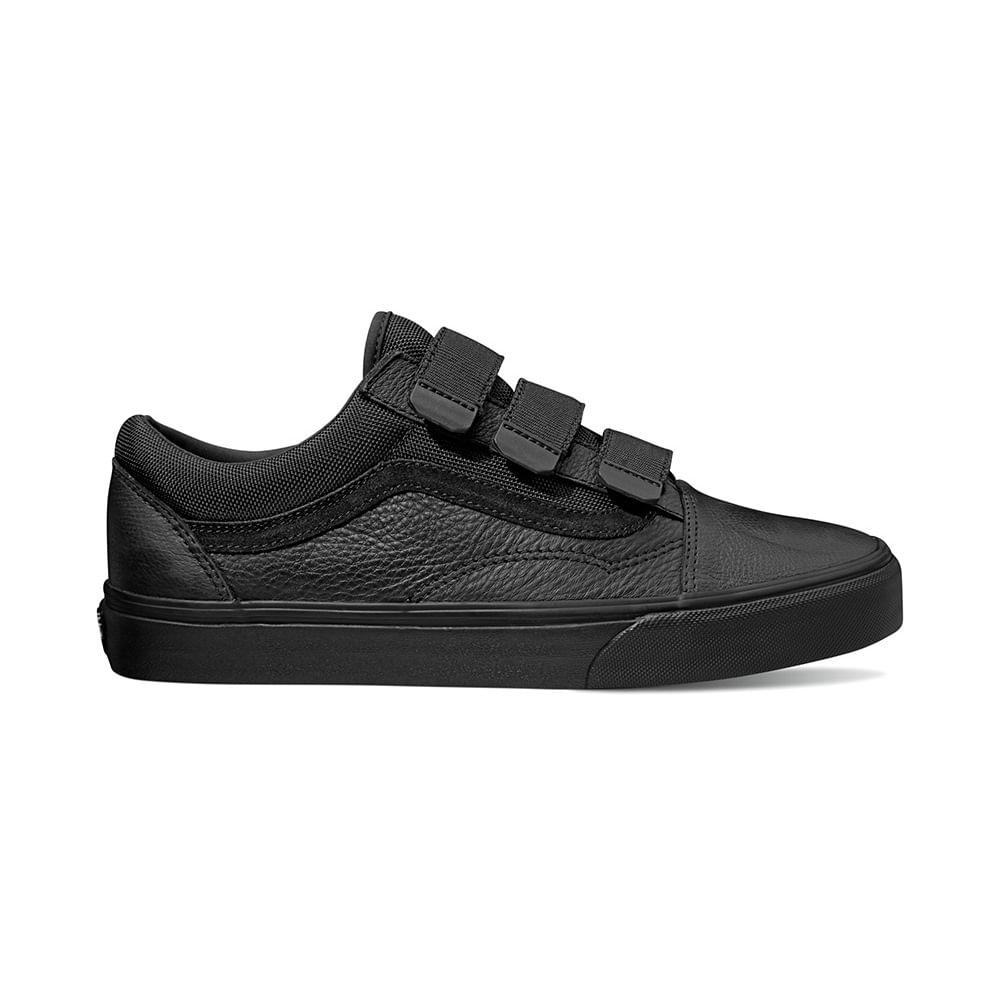 Zapatillas Old Skool V Leather (Leather) Ballistic Black - Vans - Vans df452a30efc