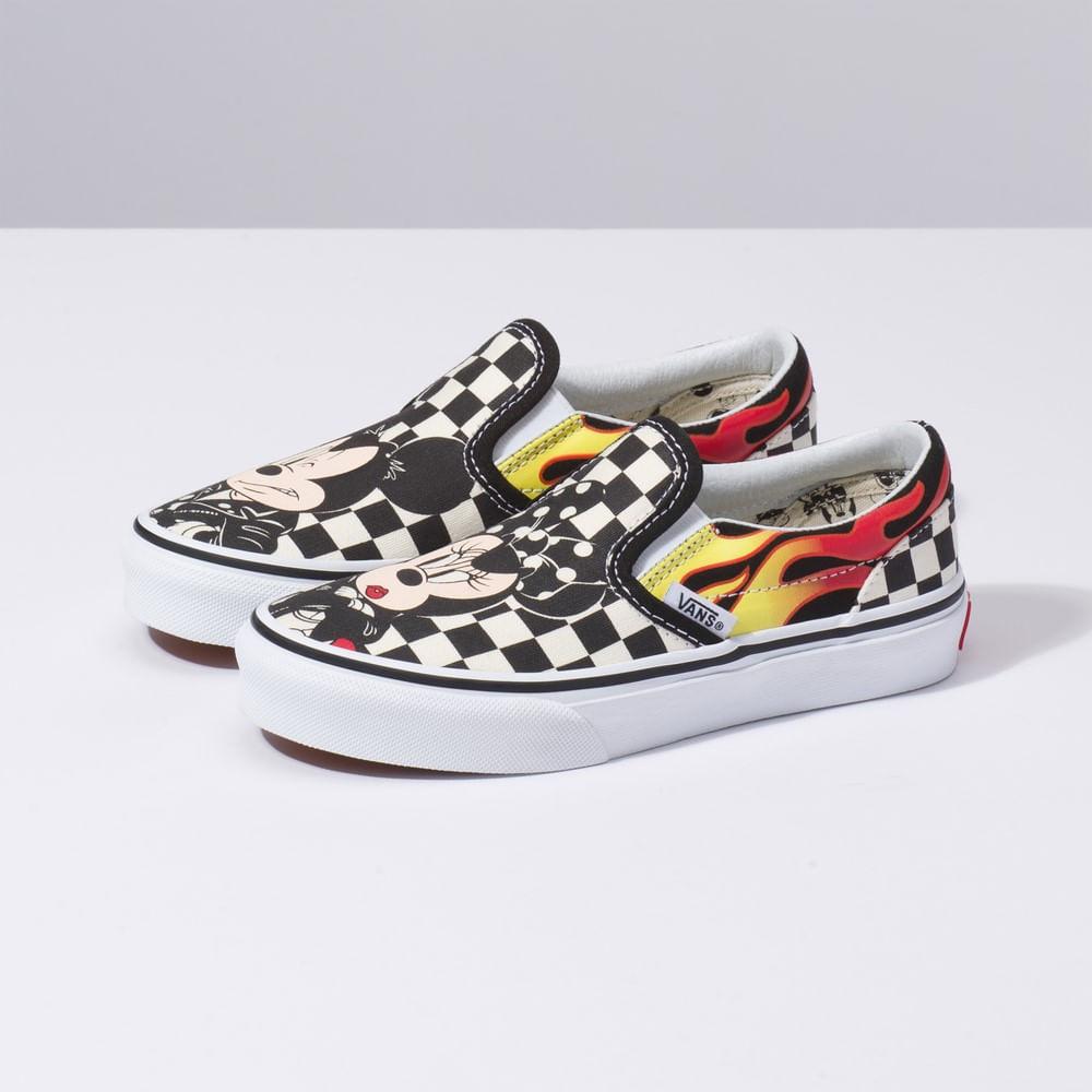 Zapatillas Niño Classic Slip-On Disney x Vans (Disney) Mickey Minnie ... baa8cca7ae6