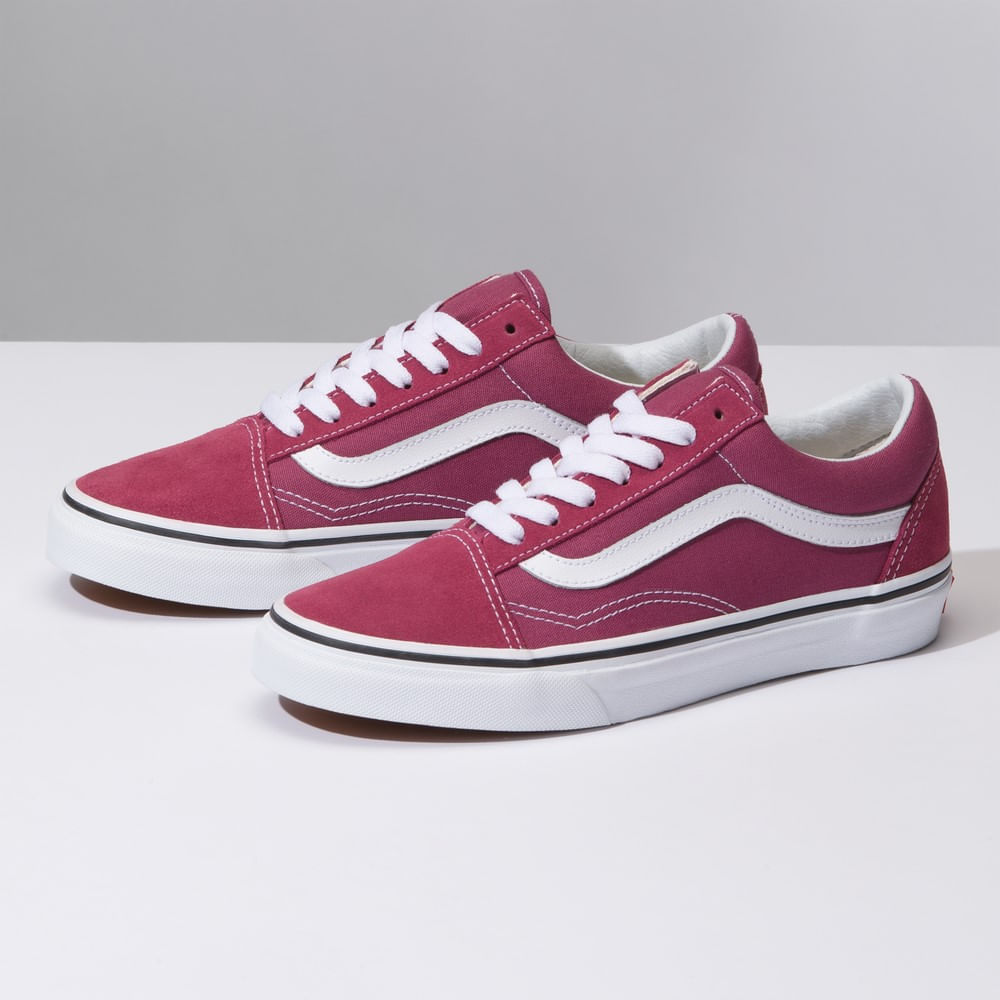 Zapatillas Color Theory Old Skool Dry Rose True White - Vans - Vans d4c0f0cc5ad