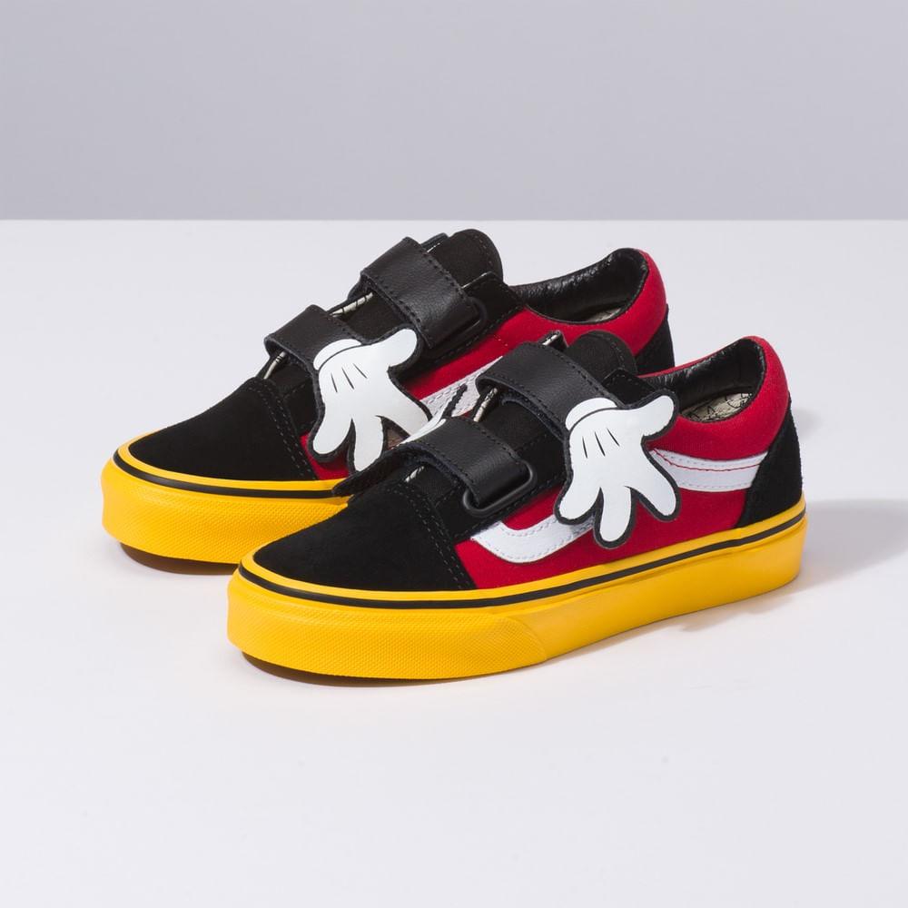 Zapatillas Niño Old Skool V Disney x Vans (Disney) Mickey Hugs Yellow a838272678f