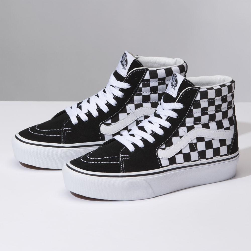 Zapatillas Checkerboard Sk8-Hi 2.0 De Ante Con Plataforma Checkerboard True  White 9c504adb1e2