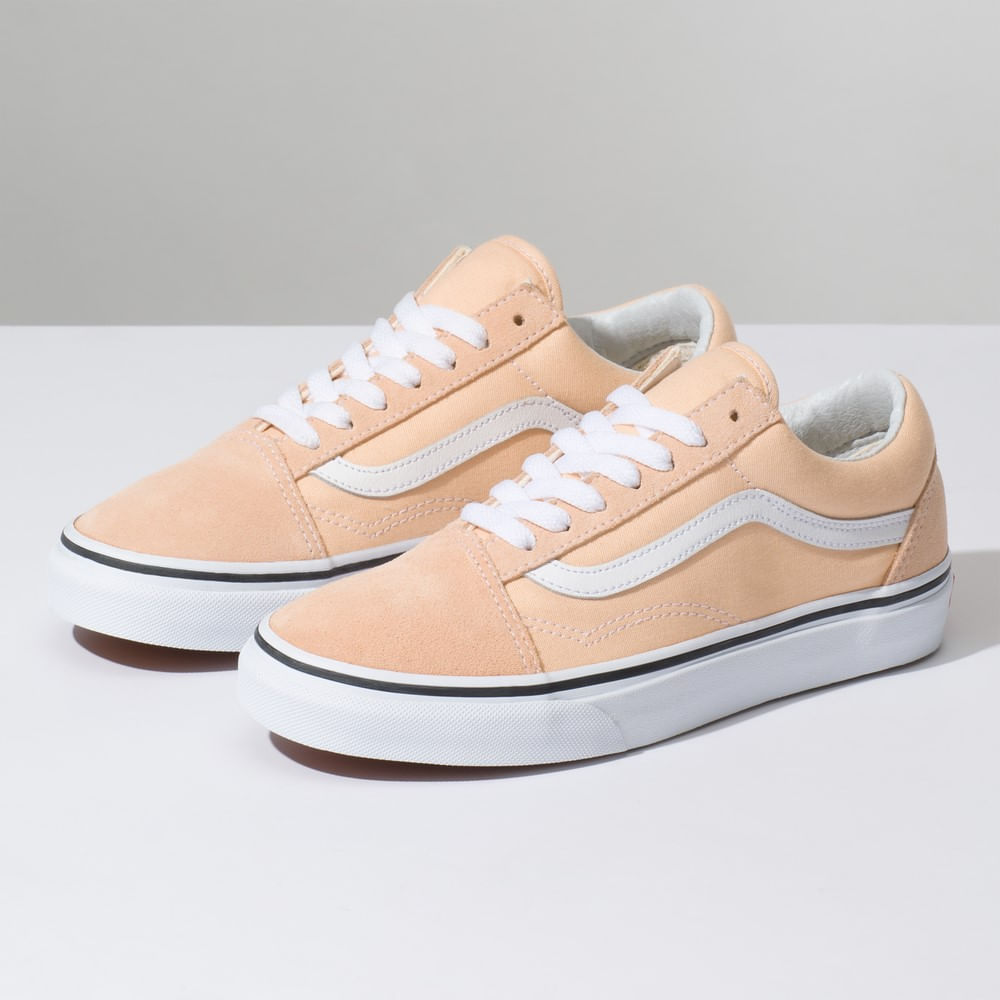 Zapatillas Color Theory Old Skool Bleached Apricot True White - Vans ... 3c2232c5d52