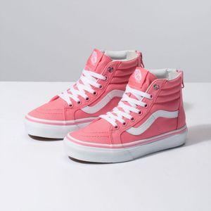 Zapatillas de niño UY SK8-Hi Zip (Heart Eyelet) Strawberry Pink True White 74f6bbdaf02
