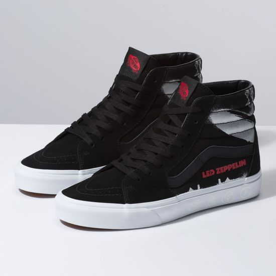 6039aa2f5fd22a Zapatillas Sk8-Hi de Vans X Led Zeppelin (Led Zeppelin) Black True White