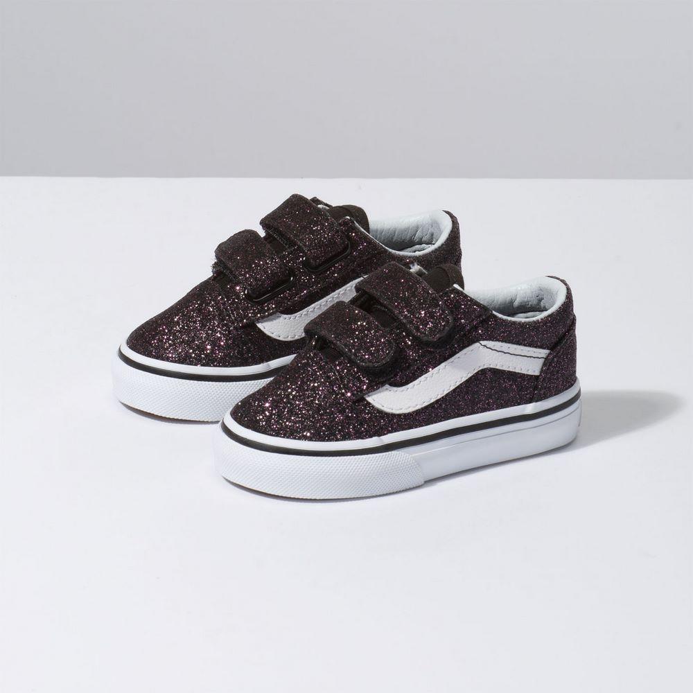 482c6a91ee14e4 Zapatillas Infant TD Old Skool V (Glitter Stars) Black True White - Vans