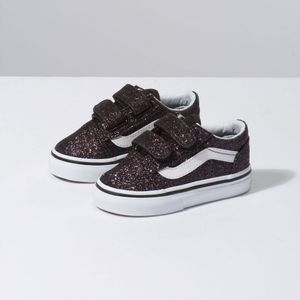 3a25f7f72 Zapatillas Infant TD Old Skool V (Glitter Stars) Black True White