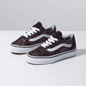 121ab20753 Zapatillas de niño UY Old Skool (Glitter Stars) Black True White