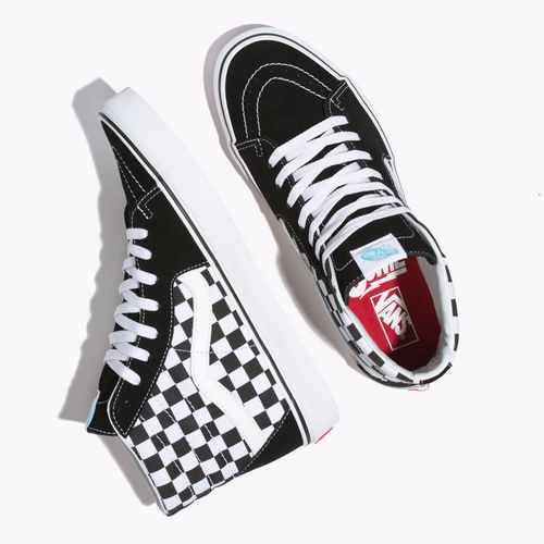 cf52e2774e6 Zapatillas Ua Sk8-hi (db) Bowie checkerboard