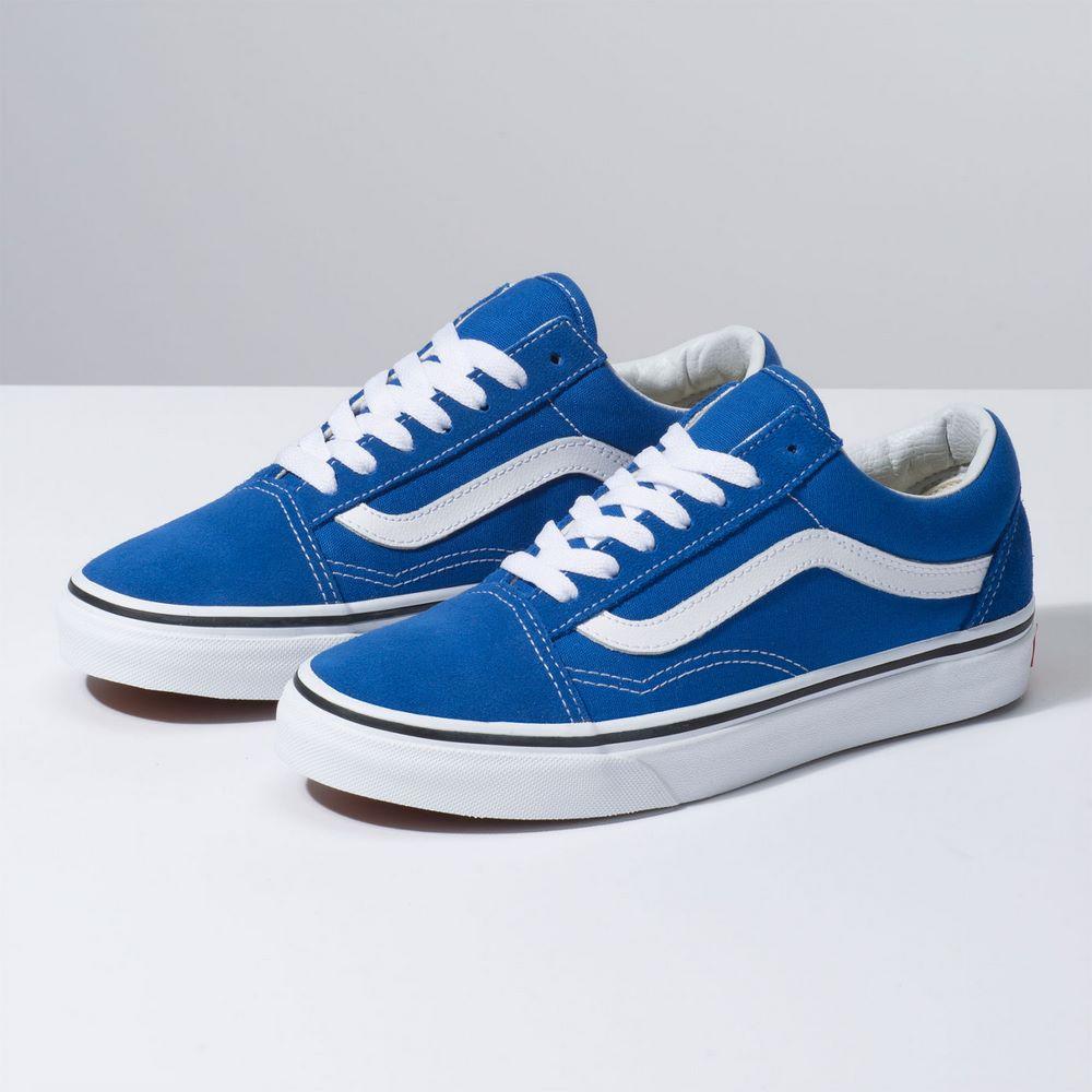 fdede97ddfd38 Zapatillas UA Old Skool Lapis Blue True White - Vans