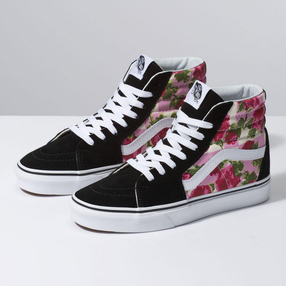 5a4fdbb41 Zapatillas UA SK8-Hi (Romantic Floral) Multi True White - Vans