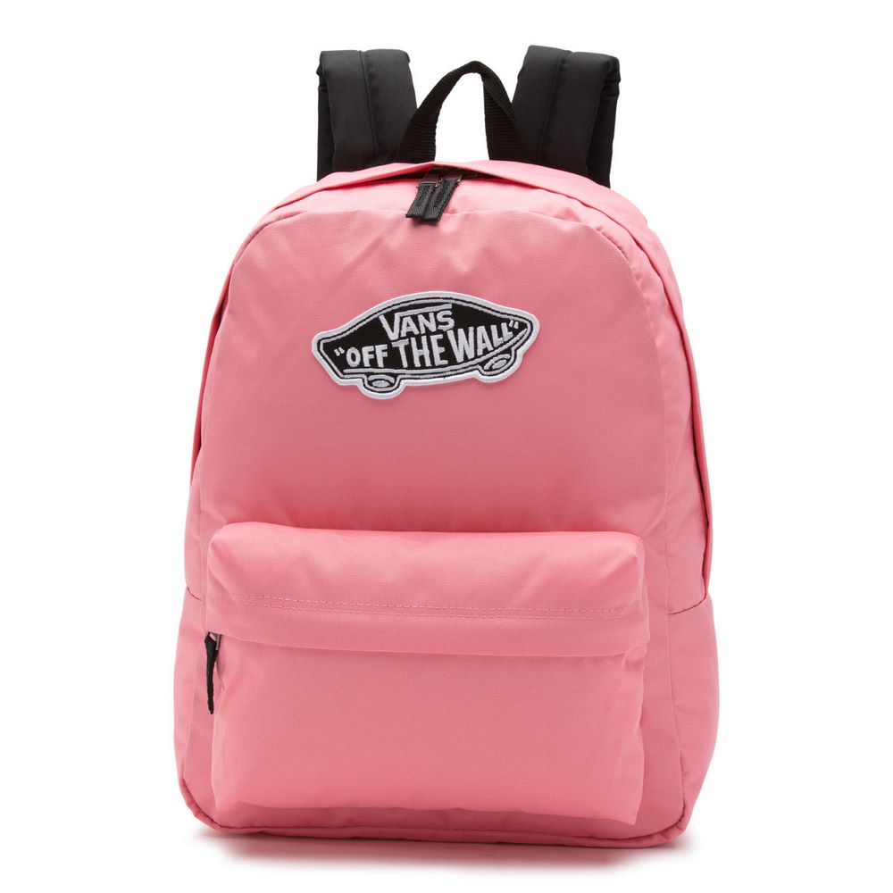 6adfb3a9d93e1 Mochila Realm Backpack Strawberry Pink - Vans