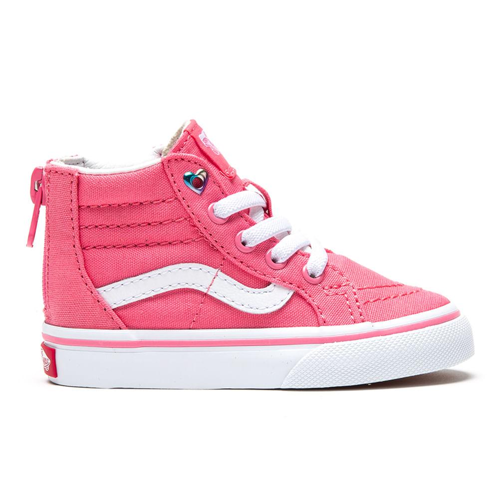 e29e5c6302c2e6 Zapatillas Infant TD SK8-Hi Zip (Heart Eyelet) Strawberry Pink True ...