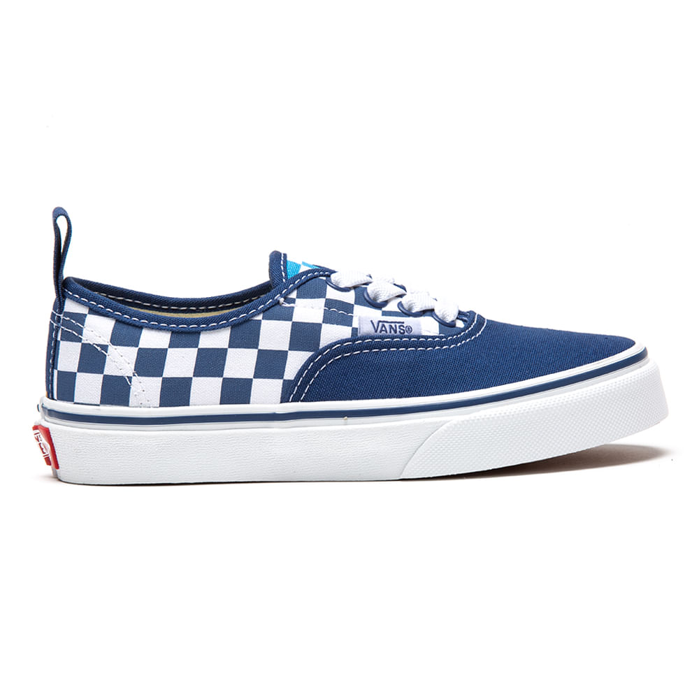 b294dff41 Zapatillas de niño UY Authentic Elastic Lace (Checkerboard) True  Navy Bonnie Blue