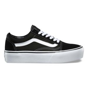 1ccf281e4 Zapatillas Old Skool Platform Black White