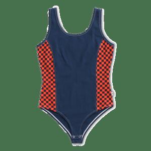 Polera-Pro-Stitched-Body-Suit-Dress-Blues