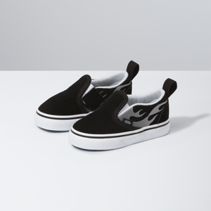Zapatillas-Td-Slip-On-V-Toddler--0-3-años---Suede-Flame--Black-True-White