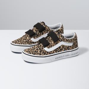 Zapatillas-Uy-Old-Skool-V-Youth--4-a-12-años---Animal-Checkerboard--leopard-black