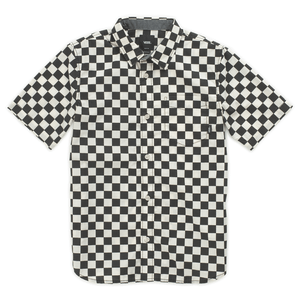 Camisa-Cypress-Checker-Boys-Youth--4-a-12-años--Black-Whitecaps