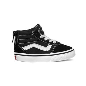 Zapatillas-Td-Ward-Hi-Zip-Toddler--1-4-años---Suede-Canvas--Black-White