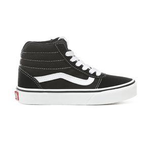 Zapatillas-Yt-Ward-Hi-Youth--5-a-12-años---Suede-Canvas--Black-White