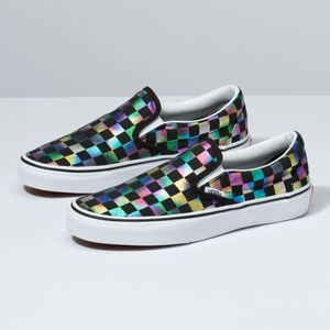Zapatillas-Ua-Classic-Slip-On--Iridescent-Check--Black-True-White