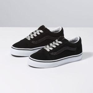 Zapatillas-Uy-Old-Skool-Youth--5-a-12-años---Glitter-Sidestripe--Black-True-White