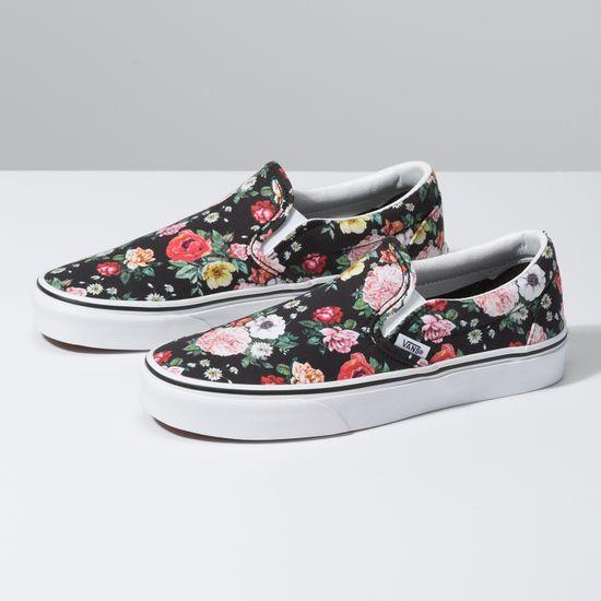 Zapatillas-Classic-Slip-On--Garden-Floral--Black-True-White