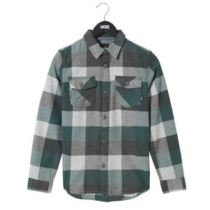 Camisa-manga-corta-Youth-By-Box-Flannel-Boys--5-a-12-años--Vans-Trekking-Green-Grey-Heather