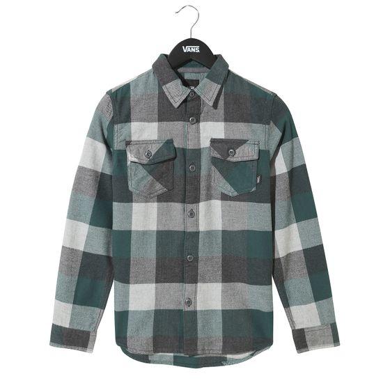 Camisa-manga-corta-Youth-By-Box-Flannel-Boys--5-a-12-años--Vans-Trekking-Green-Grey-Heather