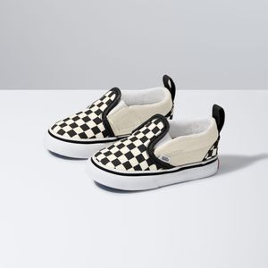 Zapatillas-Td-Slip-On-V-Toddler--1-4-años---Checkerboard--Black-White