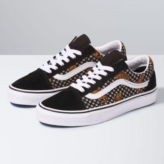 Zapatillas-Old-Skool--Tiger-Floral--Black-True-White