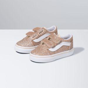 Zapatillas-Old-Skool-V-Toddler--1-4-años---Glitter--Brazilian-Sand-True-White