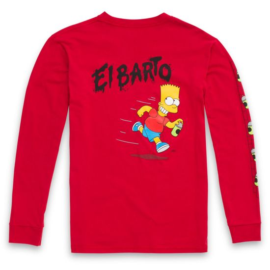 Polera-Vans-X-The-Simpsons-El-Barto-Ls-Boys-Youth--5-a-12-años---The-Simpsons--El-Barto