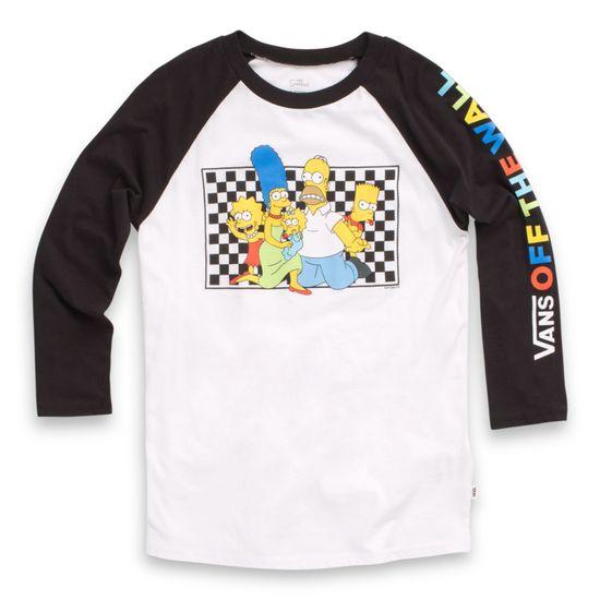 Polera-Vans-X-The-Simpsons-Family-Raglan--The-Simpsons--Family