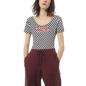 Polera-Check-V-II-Bodysuit-Checkerboard-Paprika