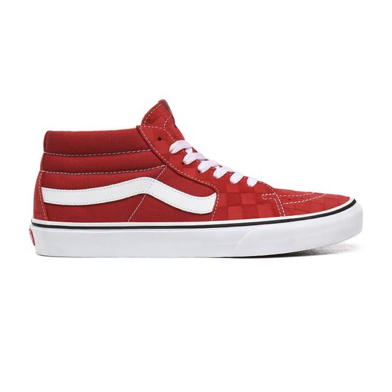 Zapatillas-Ua-Sk8-Mid--Deboss-Checkerboard--Pompeian-Red-True-White