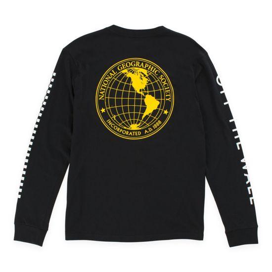 Polera-Vans-X-Nat-Geo-Globe-Ls-Boys-Youth--5-a-12-años--Black