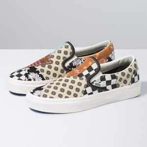 Zapatillas-Classic-Slip-On--Tiger-Patchwork--Black-True-White