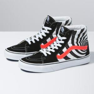 Zapatillas-Ua-Sk8-Hi--Swirl--Black-Fiery-Coral