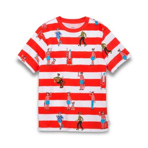 Polera-Vans-X-Where-S-Waldo-Stamp-Boys-Youth--5-a-12-años---Where-S-Waldo--White-Racing-Red