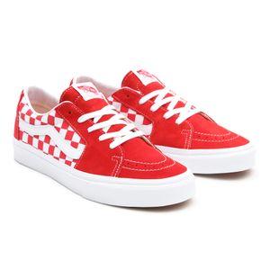 Zapatillas-Ua-Sk8-Low--Canvas-Suede--Racing-Red-Checkerboard