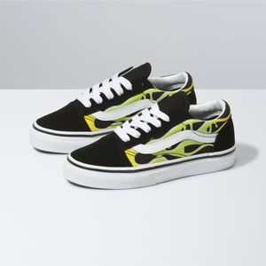 Zapatillas-Uy-Old-Skool-Youth--5-a-12-años---Slime-Flame--Black-True-White