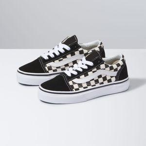 Zapatillas-Uy-Old-Skool-Youth--5-a-12-años---Primary-Check--Black-White
