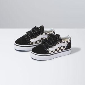 Zapatillas-Td-Old-Skool-V-Toddler--1-4-años---Primary-Check--Black-White