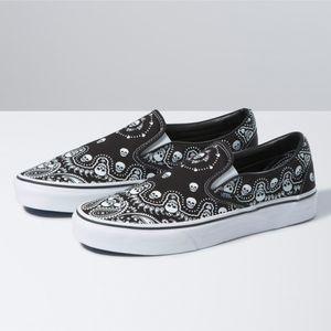 Zapatillas-Ua-Classic-Slip-On--Bandana--Black-True-White